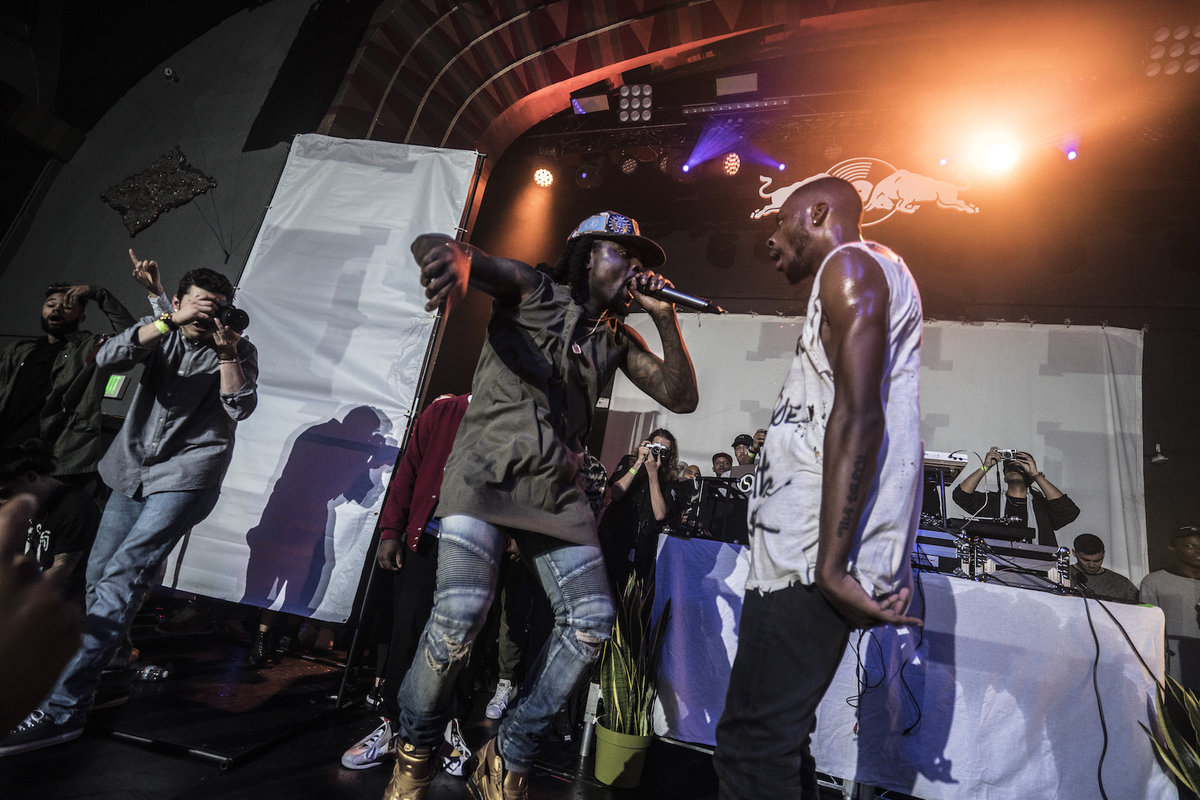 Goldlink and Wale perform at Soulection, Red Bull Sound Select Presents 30 Days in LA, at The Regent Theater, in Los Angeles, CA, USA on 7 November, 2015.